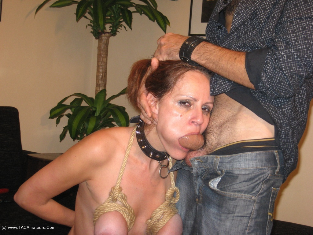 Bound bdsm sub in chains dominated by maledom 9